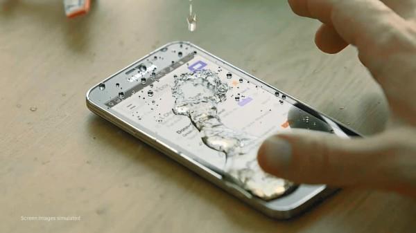 вода на телефоне