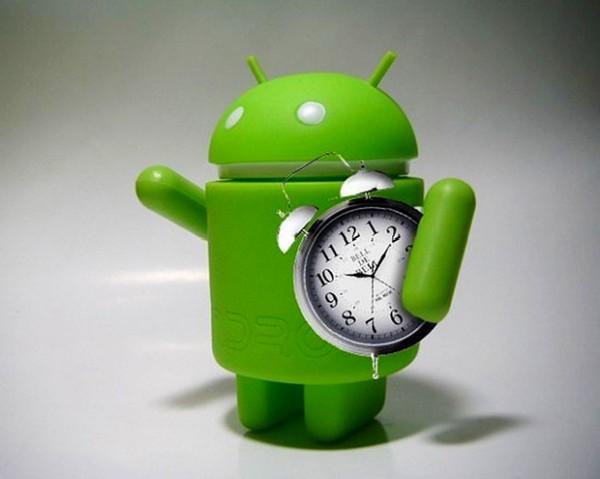 андройд с будильником