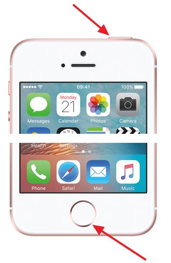 перезагрузка iphone 5, 5S, 6, 6S