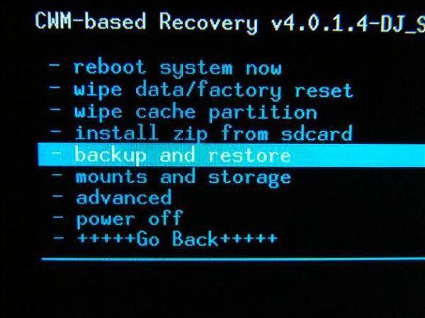 Backup and restore через кастомный рекавери