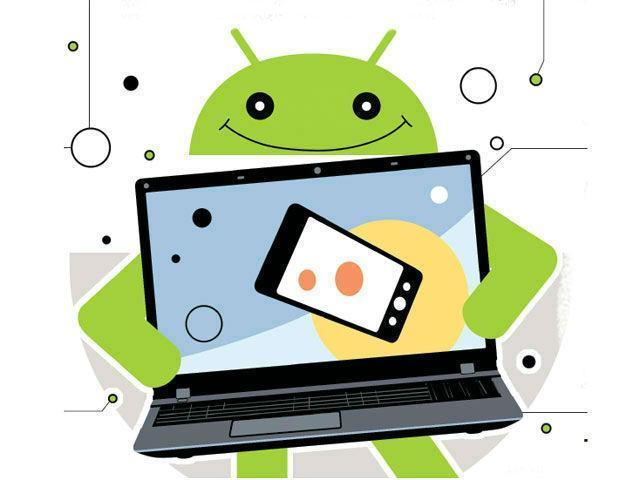 андройд и ноутбук