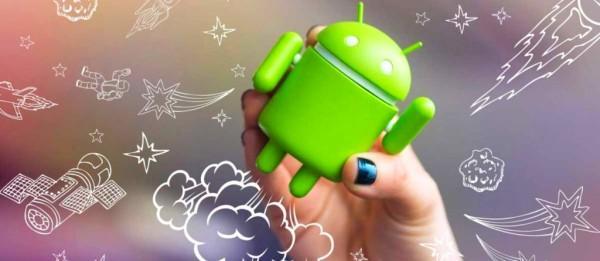 андройд в руках