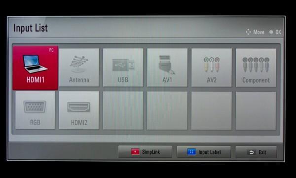 интерфейс телевизора