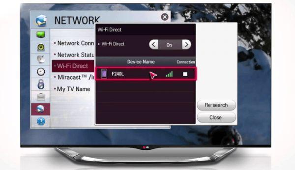 Подключение телефона к телевизору через вайфай