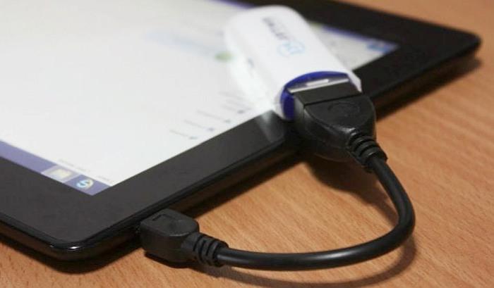 Подключеный накопитель к планшету