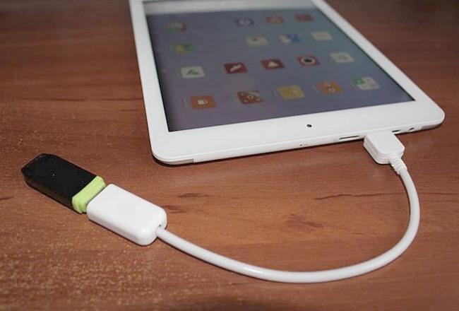 подключение USB флешки к планшету через ОТГ