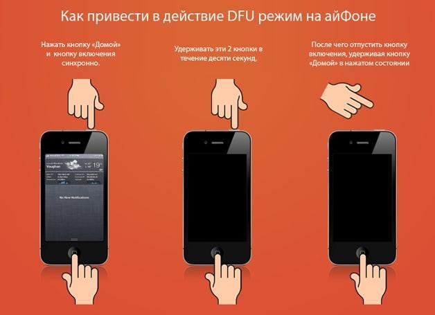 инструкция DFU режим