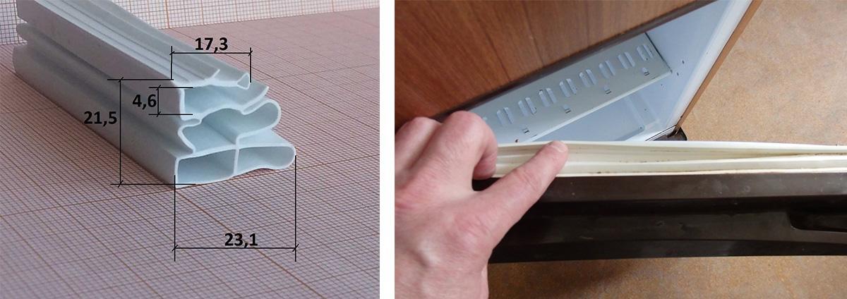 Дверной уплотнитель у холодильника