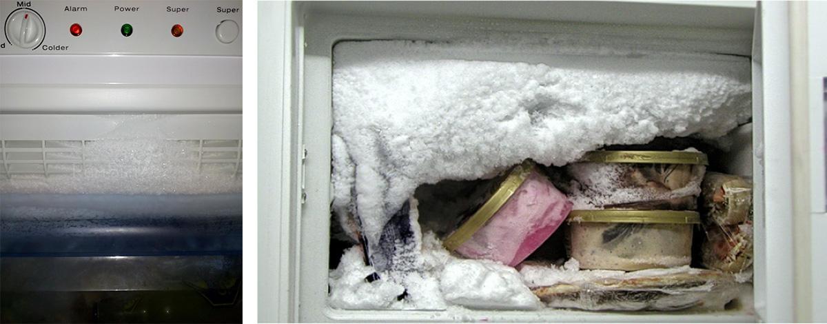 Обледенение морозильной камеры