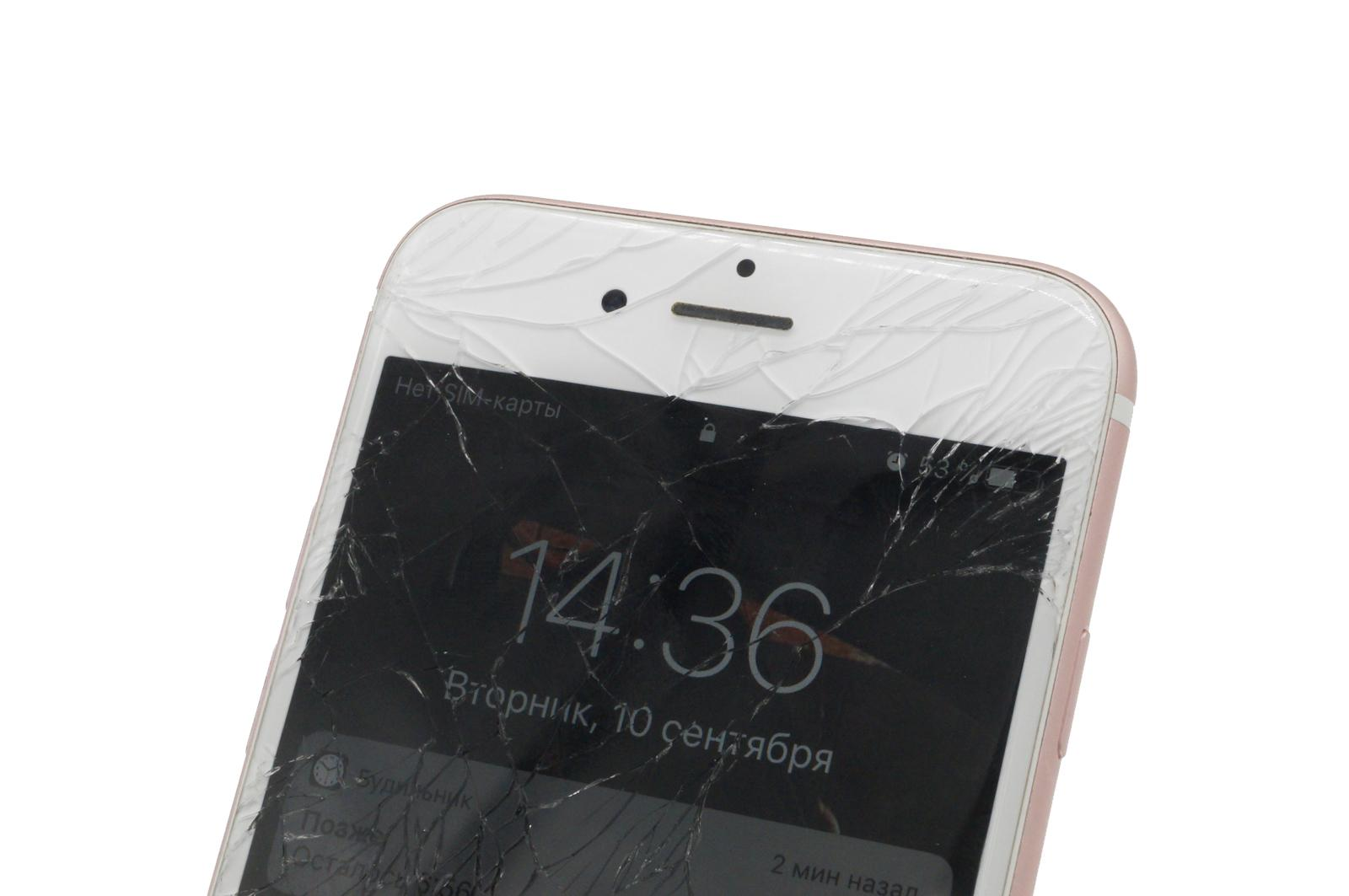разбитый экран iPhone 6S