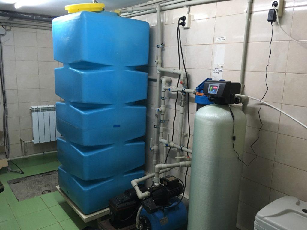 система очистки и умягчения воды