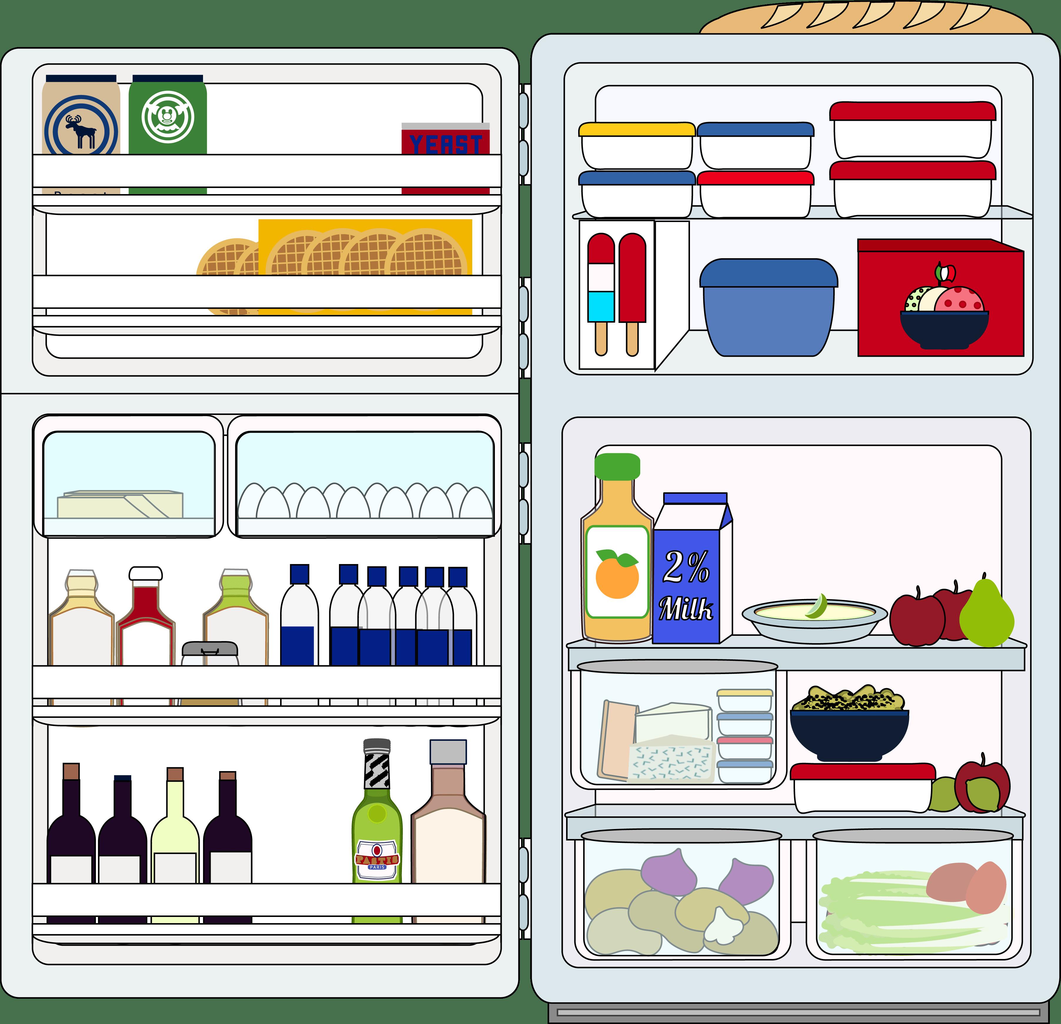 в холодильнике полно продуктов
