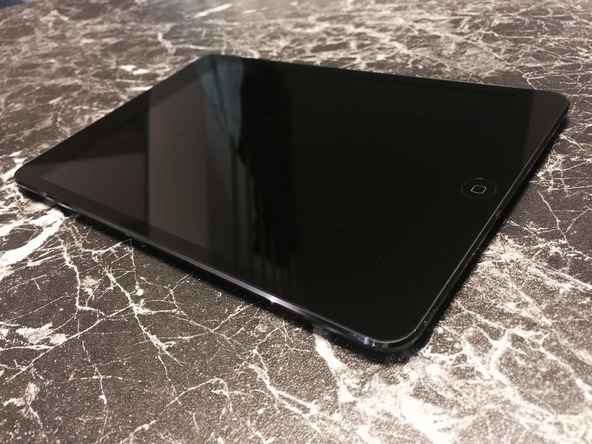 черный экран на ipad