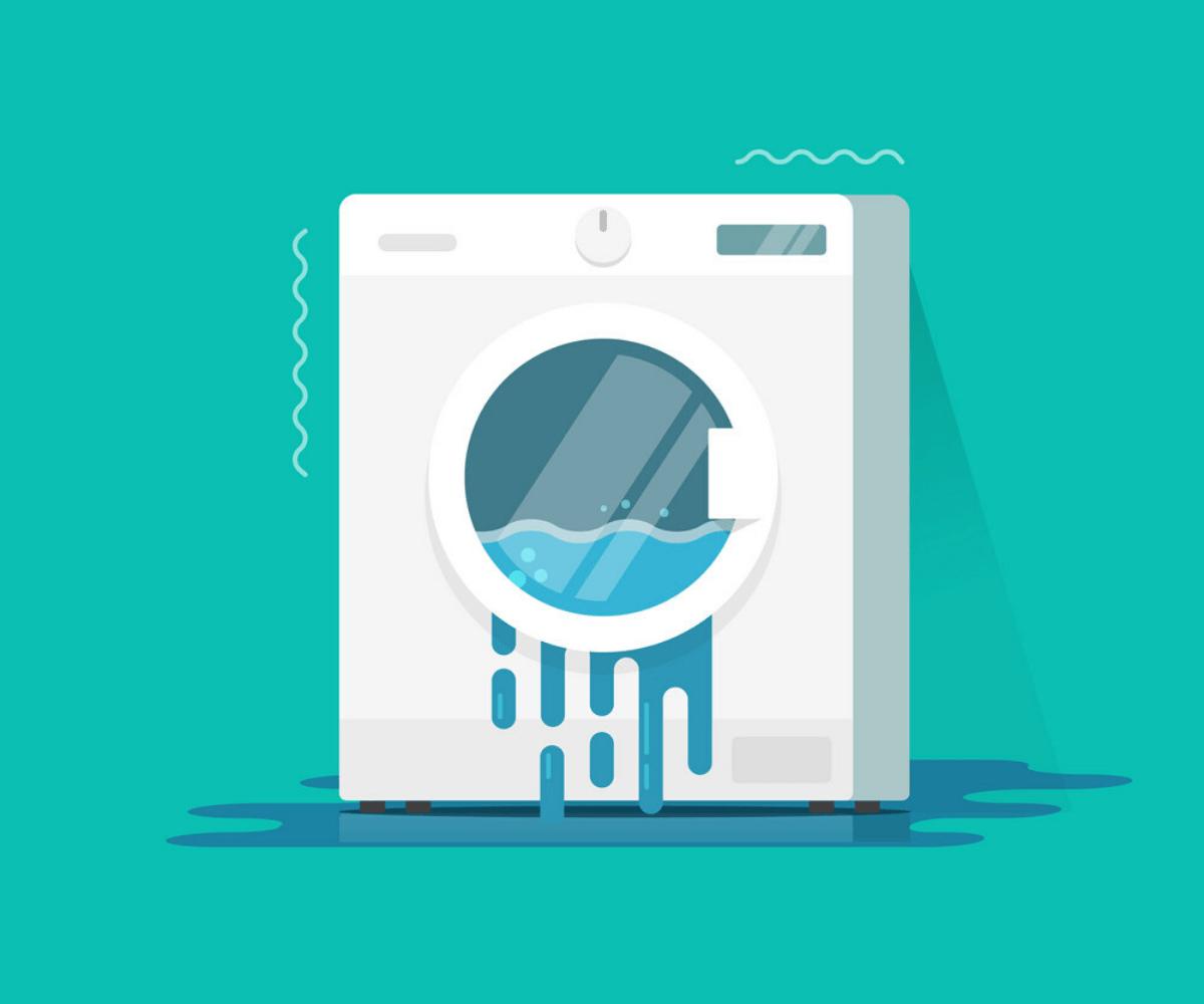 основной признак неисправности клапана - протечка воды из машинки
