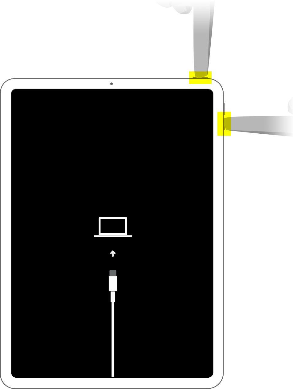 Перевод планшета с Face IDв режим восстановления