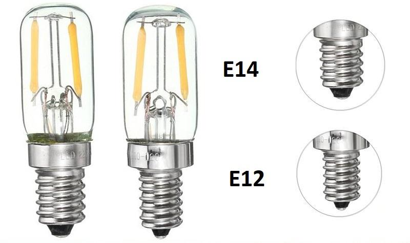 разные цоколи е12 и е14