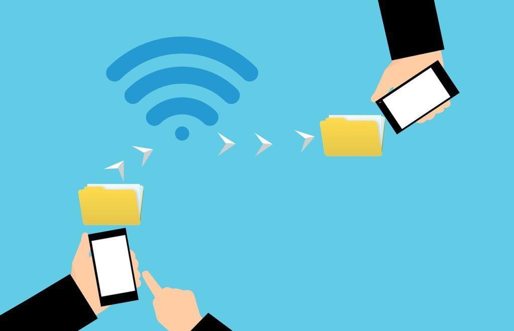 передача данных между телефонами