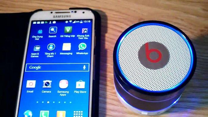 коннект с колонкой по Bluetooth